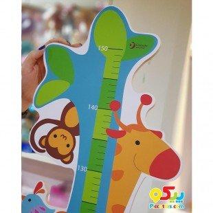 چارت قد چوبی باغ وحش Classic World مدل Zoo Growth chart 4815
