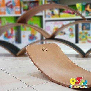 تخته تعادلی کودک چوبی بدون لایه فوم curvy مدل 5554