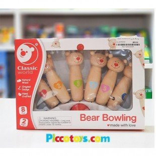 بولینگ خرس چوبی Classic World مدل Little Bear 4125