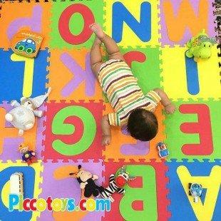 کفپوش (تاتامی) کودک 26 عددی حروف لاتین 33*33 سانتی متری مدل 2028