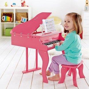 پیانو چوبی صورتی hape مدل 0319