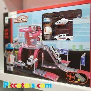 اسباب بازی پارکینگ طبقاتی بیمارستان مدل 66089
