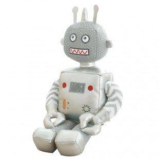 عروسک ربات نقره ای بزرگ مدل 1066