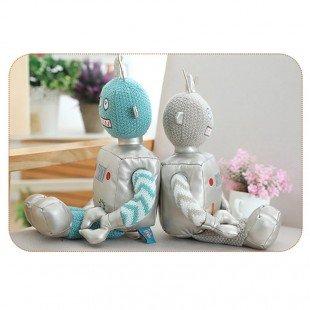 قیمت عروسک ربات آبی نقره ای مدل 1066