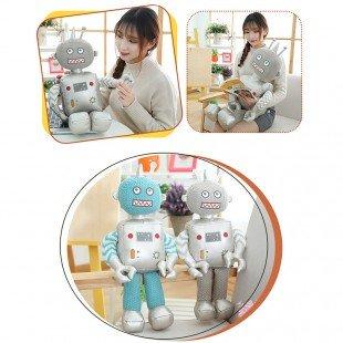 عروسک ربات آبی نقره ای مدل 1066