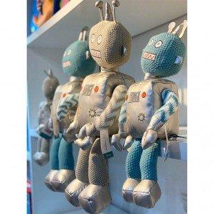 عروسک پولیشی ربات نقره ای بزرگ مدل 1066