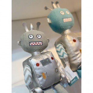 خرید عروسک بازی ربات نقره ای بزرگ مدل 1066