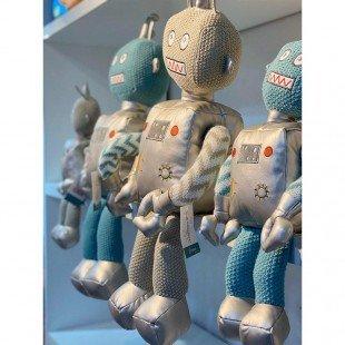 عروسک پولیشی کودک  ربات نقره ای بزرگ مدل 1066