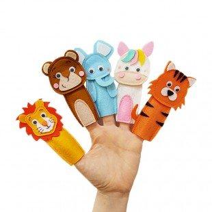 عروسک انگشتی حیوانات وحشی مدل 3421