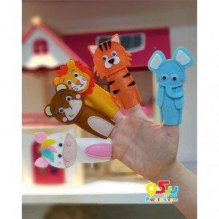 عروسک نمدی انگشتی حیوانات وحشی مدل 3421