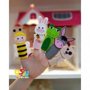 عروسک نمدی انگشتی حیوانات اهلی مدل 3421