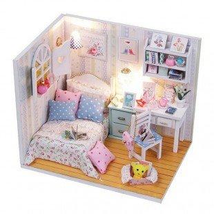 کیت خانه سازی چوبی اتاق خواب Adalelle مدل M013