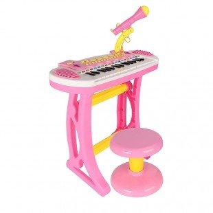 پیانو ارگ کودک با میکروفون و صندلی مدل C3132