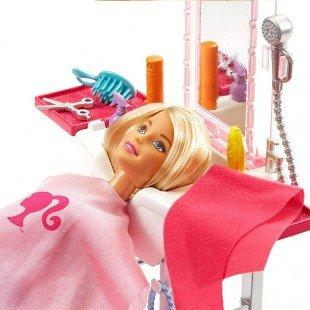 خرید عروسک باربی با میز آرایش مدل FJB36