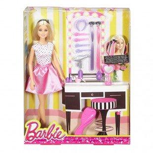 عروسک باربی با میز آرایش مدل FJB36