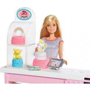 خرید عروسک باربی با لوازم تزیین کیک و خمیر مدل GFP59