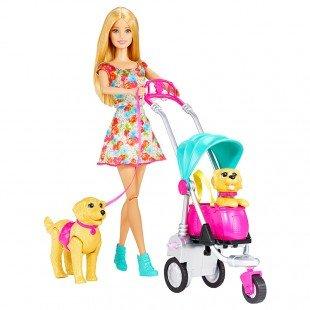 عروسک باربی با کالسکه  مدل CNB21