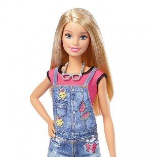 عروسک باربی با لوازم نقاشی روی لباس مدل DYN93