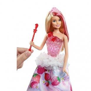 خرید عروسک باربی موزیکال با لباس توت فرنگی مدل DYX28