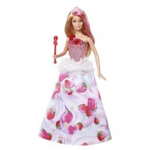 عروسک باربی موزیکال با لباس توت فرنگی مدل DYX28