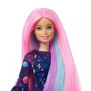 عروسک باربی با قابلیت تغییر رنگ مو مدل FHX00