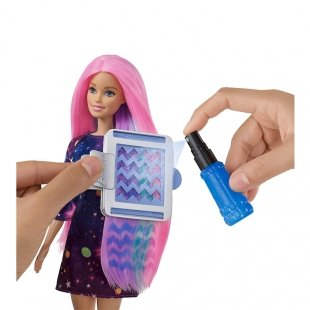 خرید عروسک باربی با قابلیت تغییر رنگ مو مدل FHX00