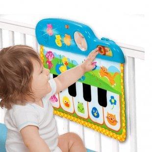 خرید آویز تخت موزیکال تخت کودک Fluffy Cloud Musical Pull Toy little bird 3064