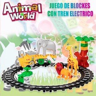 اسباب بازی لگو موزیکال قطار کودک طرح باغ وحش مدل 222H57
