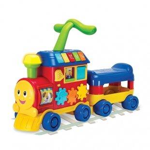 واکر قطار چند کاره صورتی Winfun مدل 008030