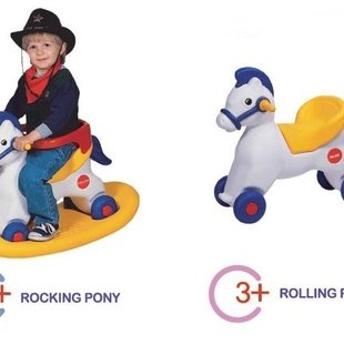 الاکلنگ اسب فنری و چرخدار سه کاره  edu_play PIC-5006