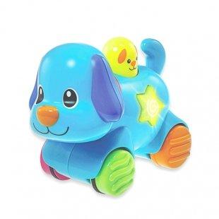اسباب بازی موزیکال سگ  چرخ دار winfun مدل 00733