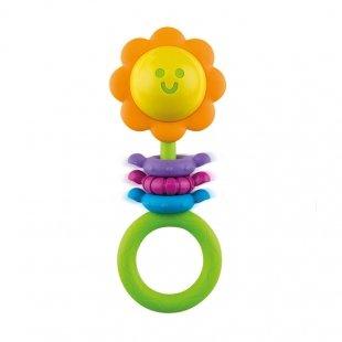 جغجغه و دندان گیر نوزاد طرح گل winfun مدل 00182