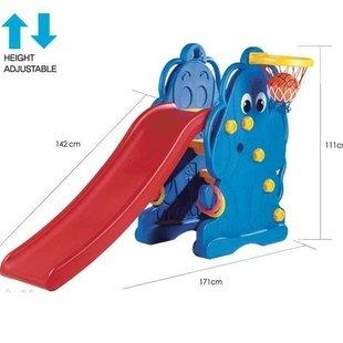 سرسره مدل سگ آبی با حلقه بسکتبال و سه عدد حلقه پرتابedu_playpic-1007