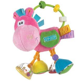 عروسک اسب حلقه و مهره صورتی playgro کد 183303
