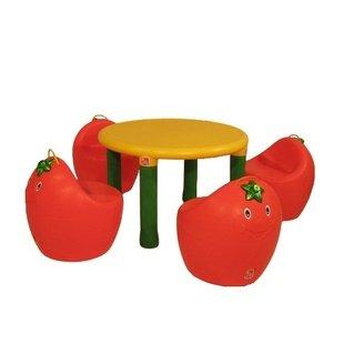 میز گرد پرتقالی کودک pic-7022