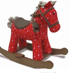 راکر اسب دودل و کرامب رنگ قرمز little bird  مدل 3030