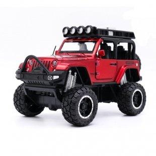 ماشین اسباب بازی فلزی جیپ دو درب قرمز مدل 3373