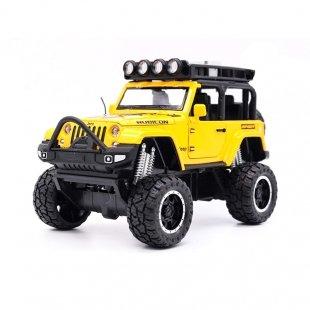ماشین اسباب بازی فلزی جیپ دو درب زرد مدل 3373