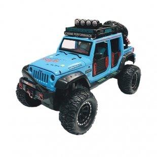 ماشین اسباب بازی فلزی جیپ 4 درب آبی مدل 2376