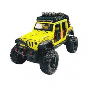 ماشین اسباب بازی فلزی جیپ 4 درب زرد مدل 2376