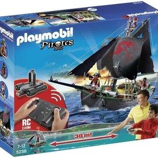 کشتی بزرگ دزدان دریایی پلی موبيل مدل pirates ship with rc under water motor 5238