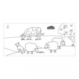 رول رنگ آمیزی متری حیوان های مزرعه