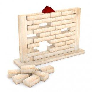 اسباب بازی چوبی فکری دیوار چوبی 40 قطعه مدل 0085
