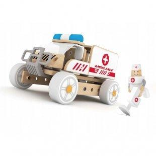 اسباب بازی ماشین آمبولانس چوبی Classic World مدل 3809