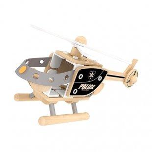 هلیکوپتر پلیس اسباب بازی چوبی Classic World مدل 3802