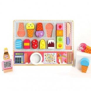 اسباب بازی بستنی فروشی چوبی کودک مدل 1233