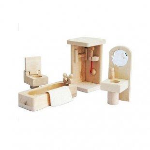 اسباب بازی چوبی ست سرویس بهداشتی مدل 28186