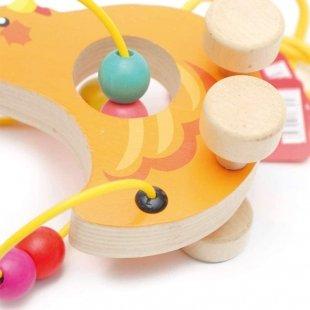 اسباب بازی چوبی و آموزشی مهره و میله کودک طرح اختاپوس مدل 30577