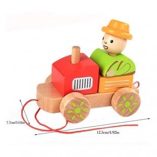 اسباب بازی چوبی کودک طرح قطار Classic World مدل 2558