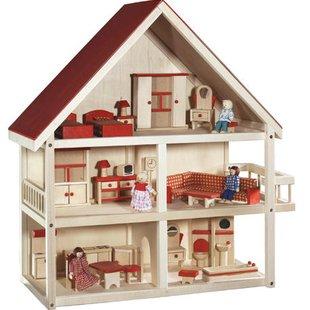 ماکت خانه عروسکی چوبی کد 9457